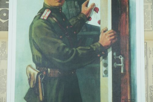 Soviet Russian Vigilance Poster Print KEEP THE SECRETS OF OUR COUNTRY #V23