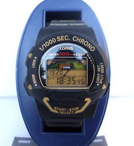 Orologio-Lorus-W349-digitale-chrono-watch-vintage-clock-multifunction-no-casio