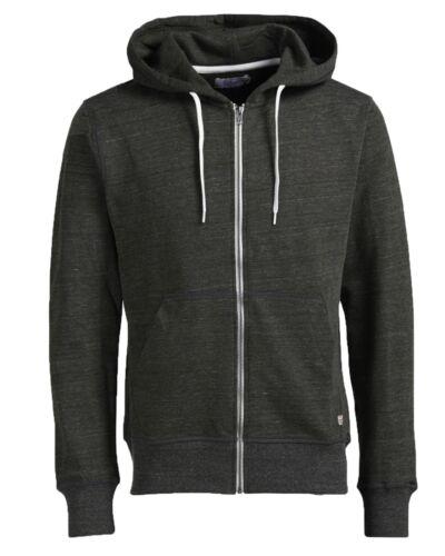 JACK /& JONES New Men's Storm Cotton Zip Up Hooded Sweatshirt Top Hoodie