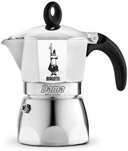 Caffettiera da 2 tazze in alluminio da 80 mm per caffè con doppia crema 90 ml
