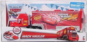 CARS-MACK-HAULER-CAMION-SAETTA-Mattel-Disney-Pixar