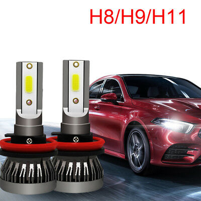 2X H8 H9 H11 LED Headlight Kit 72W 16000LM 6000K Hi-Lo Beam Fog Bulbs HID