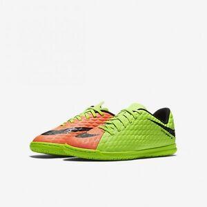 Details Zu Nike Kinder Hallen Fussballschuhe Jr Hypervenomx Phade 3 Ic Grun Orange Neu