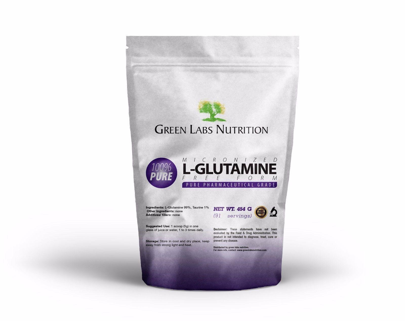 L-GLUTAMINE POWDER FREE FORM Pure AMINO ACIDS