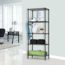 "60""x22""x12"" 5 Layer Wire Shelving Rack Adjustable Shelf Storage Unit Commercial"