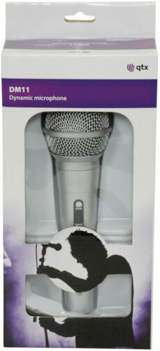 QTX DM11S Silver Dynamic Microphone for Vocals Bargain 3M Jack Mic Lead