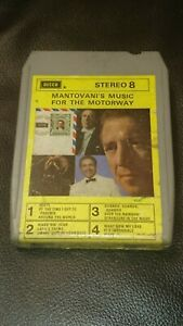 Vintage-8-Track-Cassette-Cartridge-mantovani-039-s-music-for-the-motorway