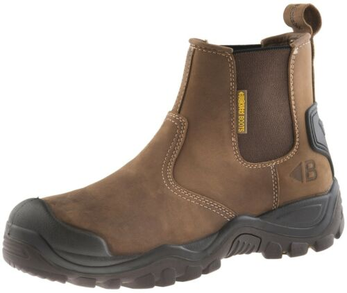 Buckler Crazy Horse Brown Leather Steel Toe Cap Midsole Dealer Safety Boots S3