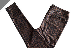 NWT Lularoe 2XL Luxe Collection Faux Leather Leggings Animal Print