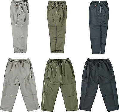 Mens 3 In 1 Trousers With Cargo Pockets Double Zip Off Shorts2XL  3XL 4XL 5XL