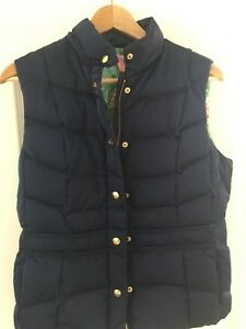 Navy Quilted Taille Lily Vest Pulitzer Medium tqxnZO6