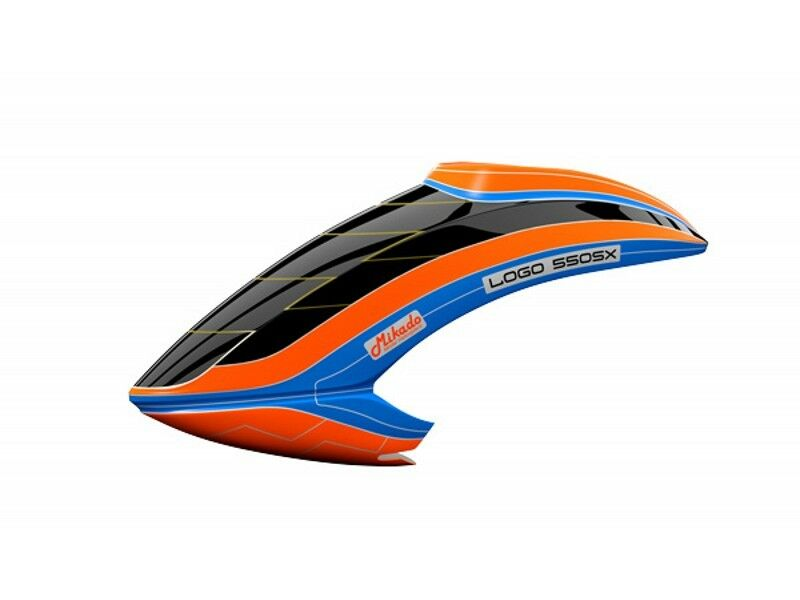 Canopy Mikado LOGO 550 SX V3 Neon-orange bluee