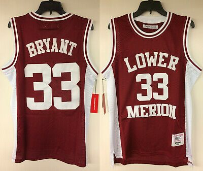 Kobe Bryant Lower Merion High School #33 Authentic Embroidered Basketball Jersey | eBay