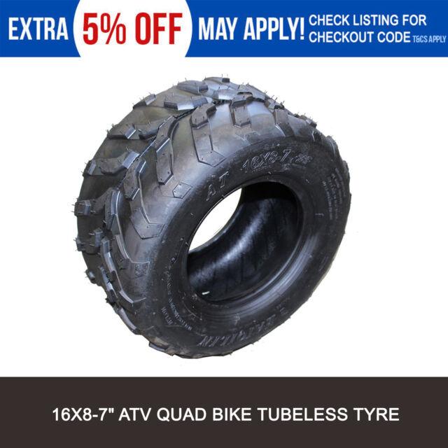 "16x8-7 Front/Rear Tire/Tyre Kawasaki KFX50 4 wheeler ATV Quad Bike Buggy 7"""