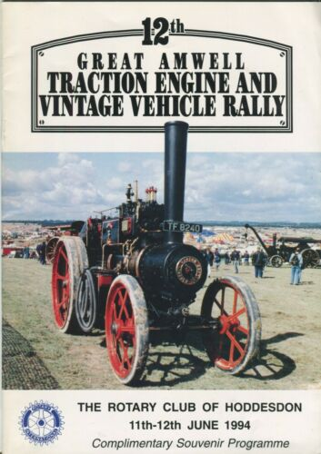 12th Great Amwell Traction Engine and Vintage Vehicle Rally 1994 programme