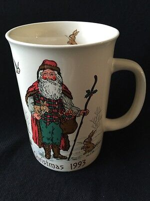 1993 Woodland Santa Potpourri Press Coffee Tea Mug Snowy Forest Animals Ebay
