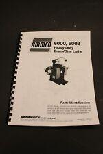 Ammco 6000 6002 Heavy Duty Brake Lathe Parts Manual