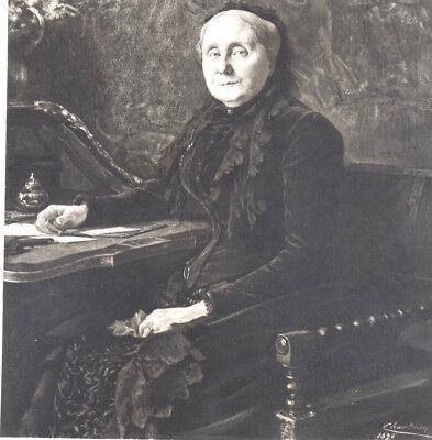 Chartran Theobald 1849 1907 Large Portrait Original Engraving Antiques