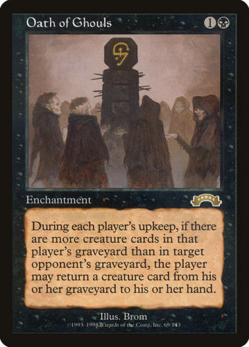 Magic the Gathering MTG 1x Oath of Ghouls x1 Exodus x 1 LP//LP 8x Available