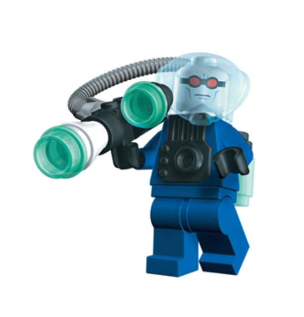 LEGO Batman Minifigure Mr Freeze With Weapons