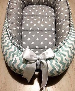 Gray Baby Nest Mint And Gray Babynest Newborn Sleep