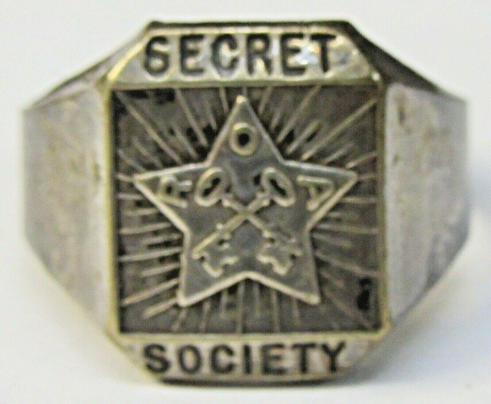 1936 ORPHAN ANNIE SECRET SOCIETY Silver Star Ring Ovaltine Radio Premium f1