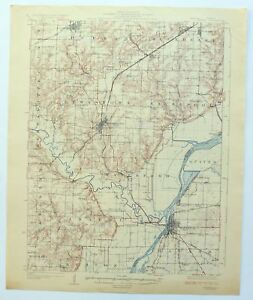 Havana Illinois Vintage 1925 Usgs Topo Map Lewistown Cuba 15 Minute