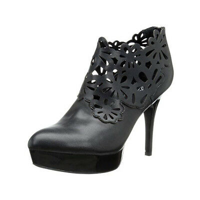 Carlos Santana Black Floral Laser Cut Perforated Linz