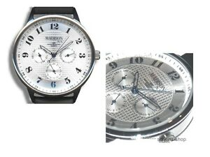 MADISON-New-York-Armbanduhr-mit-Datum-amp-Wochentag-Chrono-Date-analog-Edel