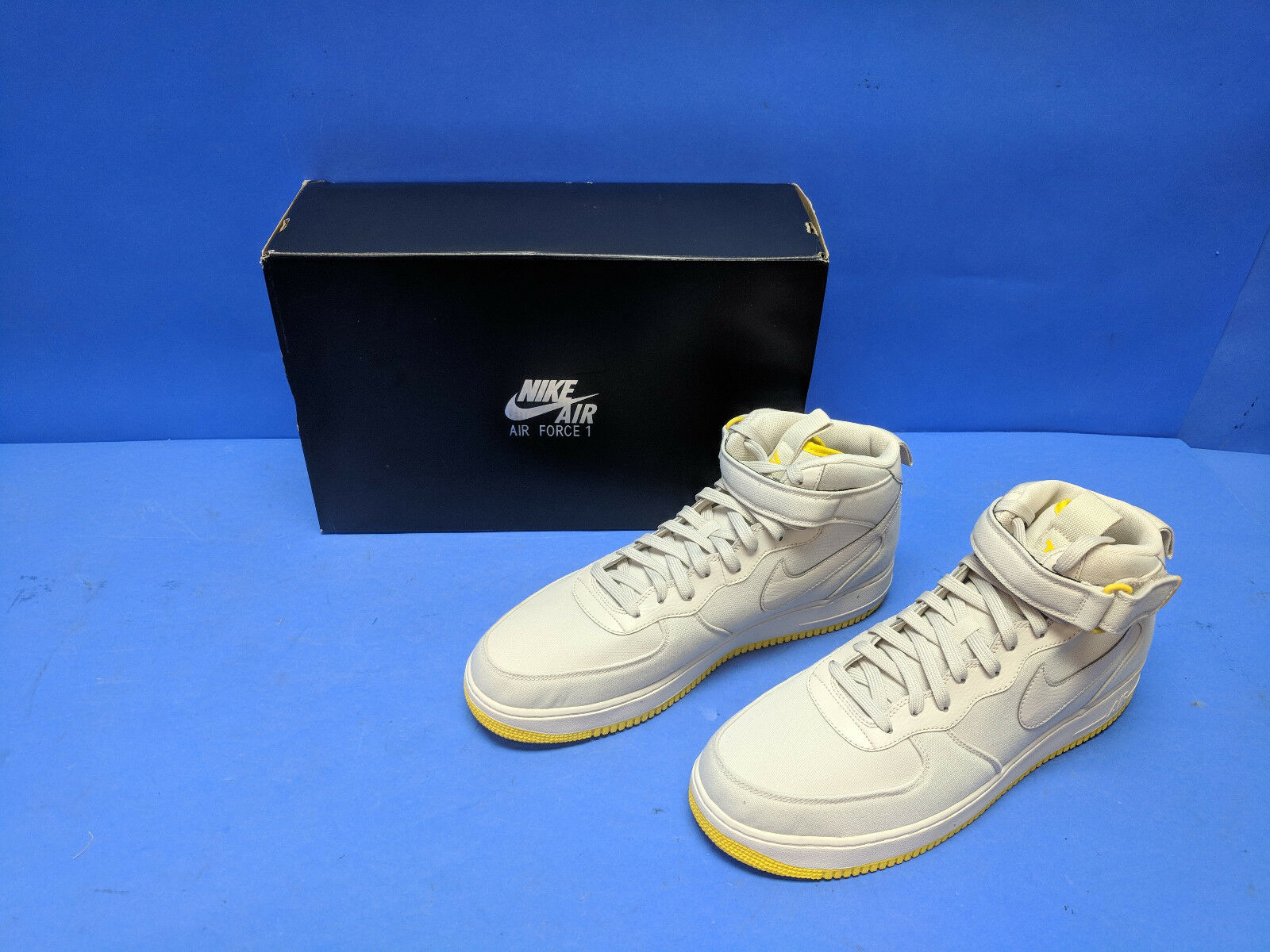 07 Mid 1's Force Air Nike Canvas US Yellow & Sand Desert 14