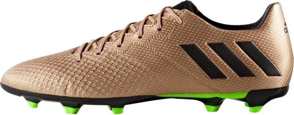 Adidas homme Messi 16.3 FG Soccer chaussures BA9838 Copper/noir/Green Sz 10.5 - 12
