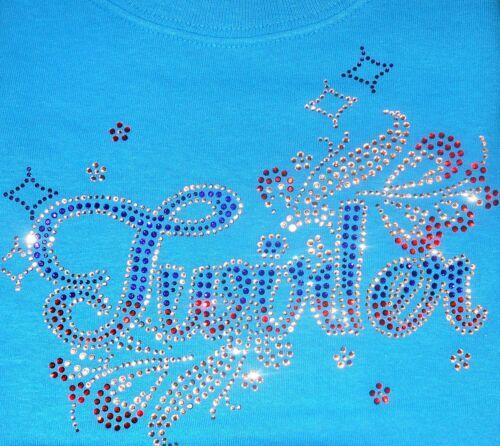 BATON TWIRLING RHINESTONE T SHIRT CHILD SIZES  PINK BLUE PURPLE  TWIRLERS