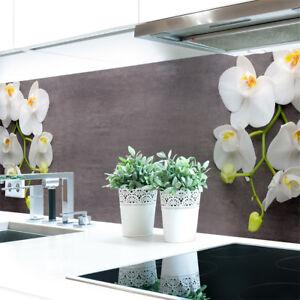 Kuechenrueckwand-Orchideen-Zweig-Premium-Hart-PVC-0-4-mm-selbstklebend