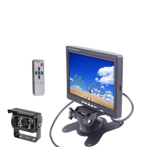 """kit telecamera di retromarcia 18 led con monitor lcd 7/"""" parcheggio retrocamera"""