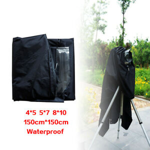 New-Dark-Focusing-Cloth-Rainproof-for-4X5-5X7-8x10-Film-Cameras-Black-150cm