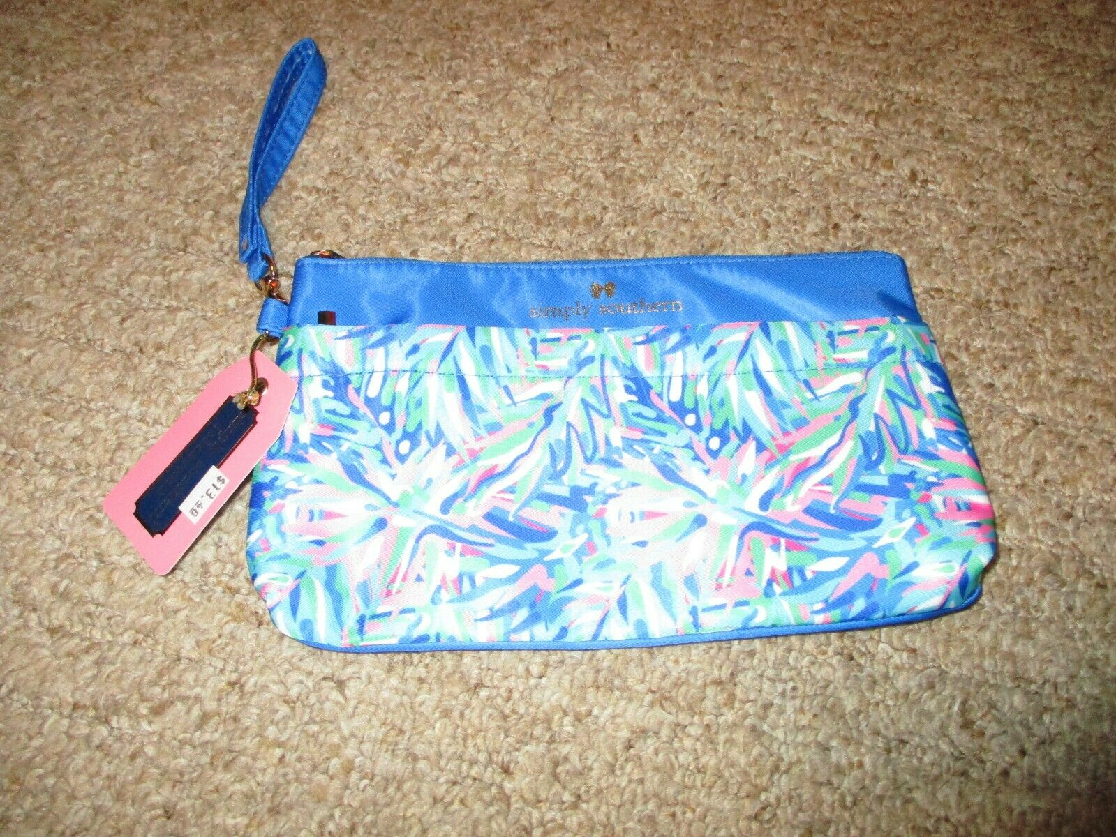 NEW NWT Simply Southern Wrist-let Wallet 2 ZIPPERS 6 POUCHES Phone Case 9.5 X 6