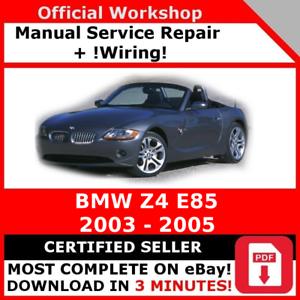 factory workshop service repair manual bmw z4 e85 2003 2005 ebay rh ebay com 2003 BMW Z4 Repair Manual 2003 BMW Z4 Repair Manual