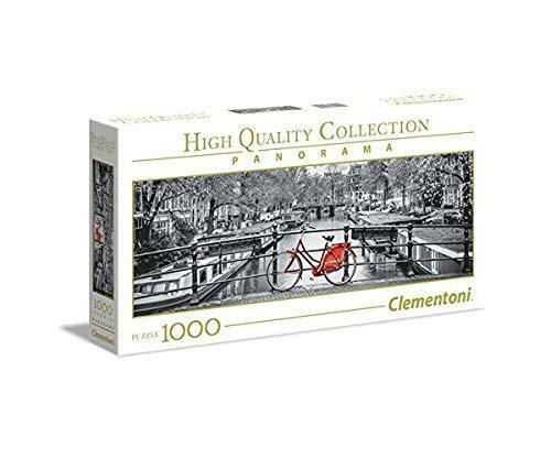 Clementoni 39440 Collection Panorama - Amsterdam Bicycle - 1000 Pieces, Multi-Co