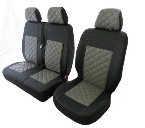 PEUGEOT BOXER,CITROEN JUMPER FIAT DUCATO 02-06 LHD GREY LEATHER Seat Covers 2+1