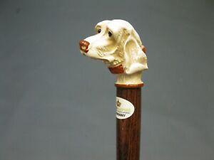 Edler-Holz-Sammler-Gehstock-Wanderstock-Spazierstock-Walking-Stick-Hund