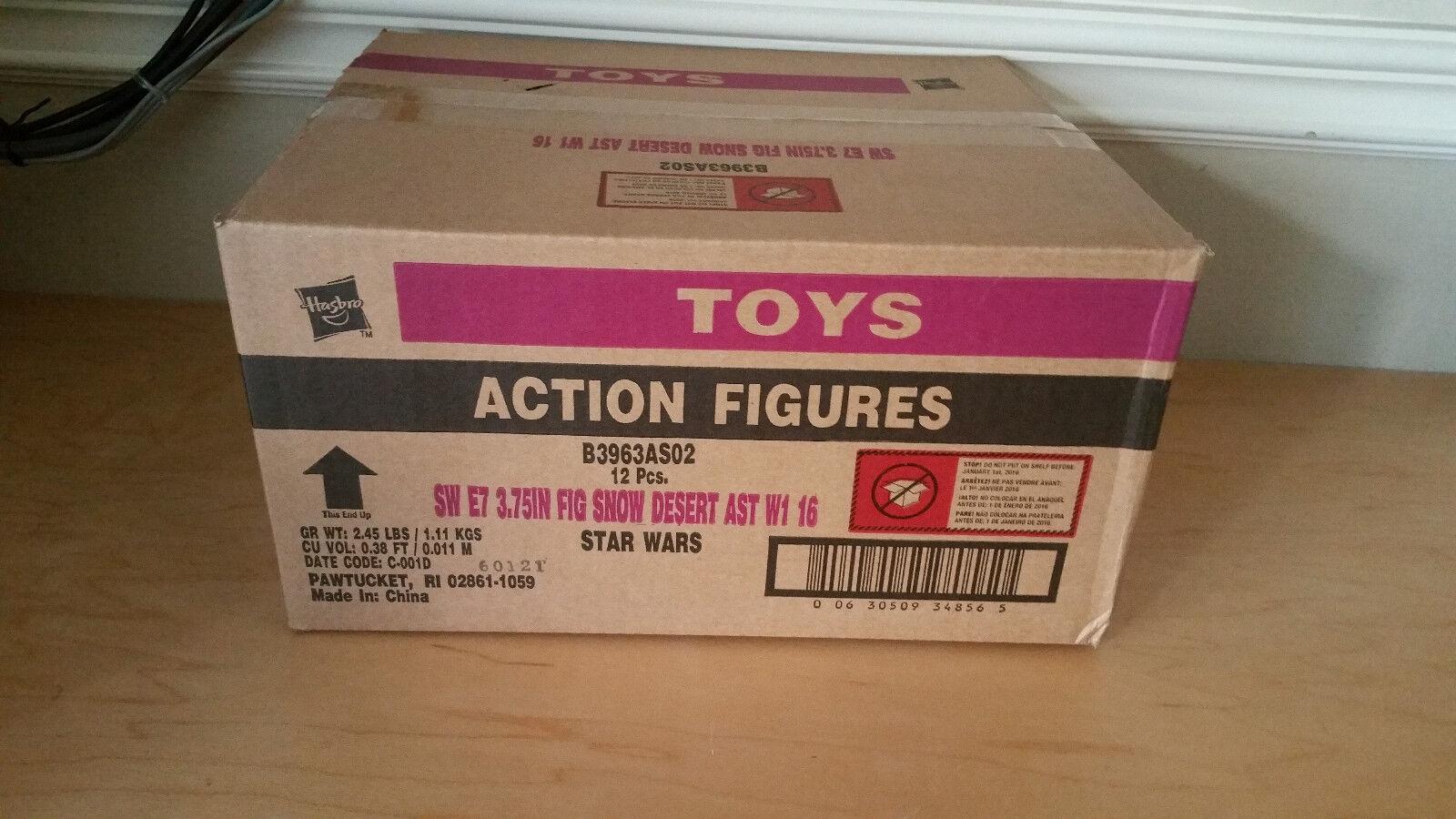 Hasbro Star Wars Ep VII Force Awakens Snow & Desert Wave 4 Factory Sealed Case