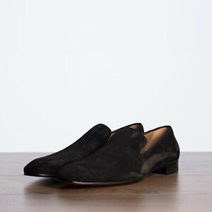 CHRISTIAN-LOUBOUTIN-795-Dandelion-Loafers-In-Black-Suede