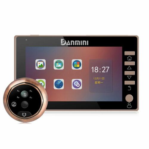 """Danmini 4.5/"""" écran couleur Sonnette de porte Peephole Viewer caméra 3MP 170 ° motion 32 Go"""