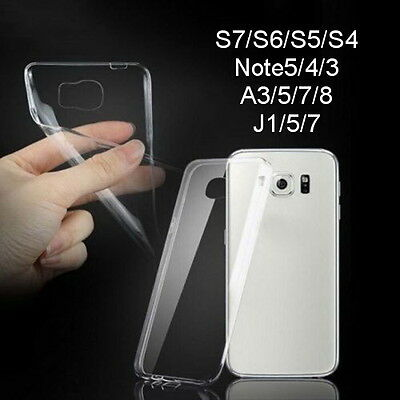Soft Silicone TPU Ultra Thin Clear Transparent Case For Samsung Galaxy S/A Note