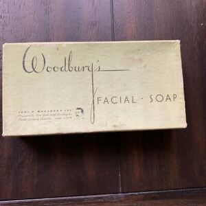 Box-Of-Woodbury-039-s-Facial-Bathroom-Shower-Soap-Unopened-Vintage-Antique