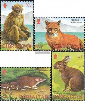 Topical Stamps Motivated Gibraltar 1010-1013 Mint Never Hinged Mnh 2002 Animals
