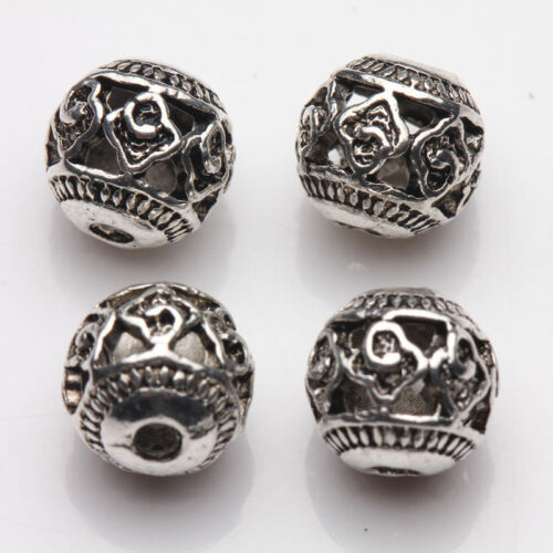 10//20Pcs Tibetan Silver Charms Loose Spacer Beads Wholesale Jewelry Making Craft
