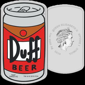 Tuvalu-1-Dollar-2019-Duff-Beer-Die-Simpsons-1-Oz-Silber-PP