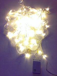 LED Christmas Lights WARM WHITE Exterior 100ft roll 300 LEDs 110V ...