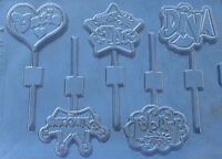 Diva Assortment Girly Pops Lollipop Chocolate Candy Mold Birthday Party Favors